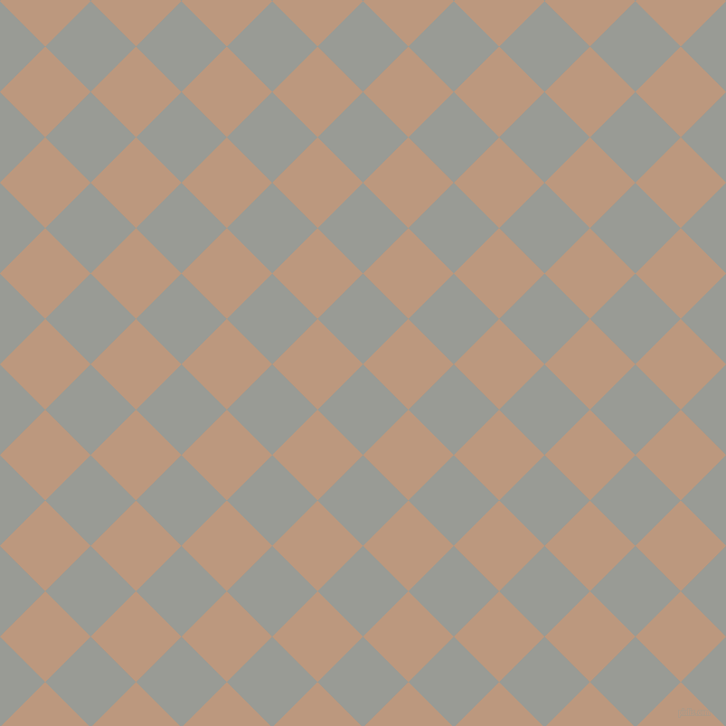 45/135 degree angle diagonal checkered chequered squares checker pattern checkers background, 71 pixel square size, , Delta and Pale Taupe checkers chequered checkered squares seamless tileable