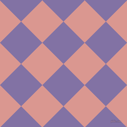 45/135 degree angle diagonal checkered chequered squares checker pattern checkers background, 100 pixel squares size, , Deluge and Petite Orchid checkers chequered checkered squares seamless tileable