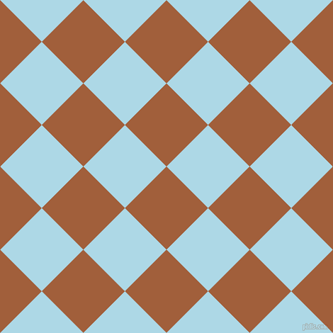 45/135 degree angle diagonal checkered chequered squares checker pattern checkers background, 83 pixel square size, , Desert and Light Blue checkers chequered checkered squares seamless tileable