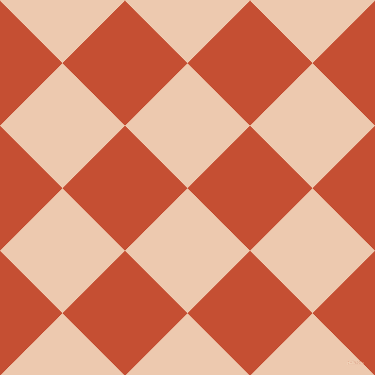 45/135 degree angle diagonal checkered chequered squares checker pattern checkers background, 182 pixel squares size, , Desert Sand and Trinidad checkers chequered checkered squares seamless tileable