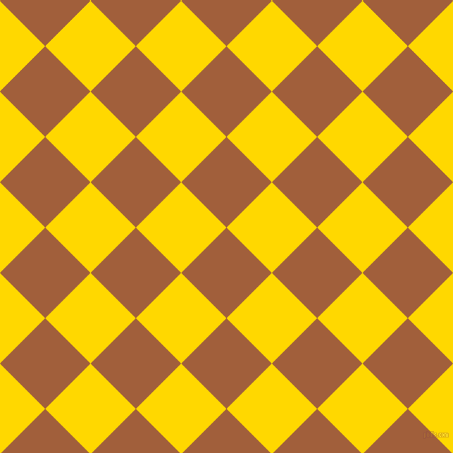 45/135 degree angle diagonal checkered chequered squares checker pattern checkers background, 91 pixel squares size, , Desert and School Bus Yellow checkers chequered checkered squares seamless tileable