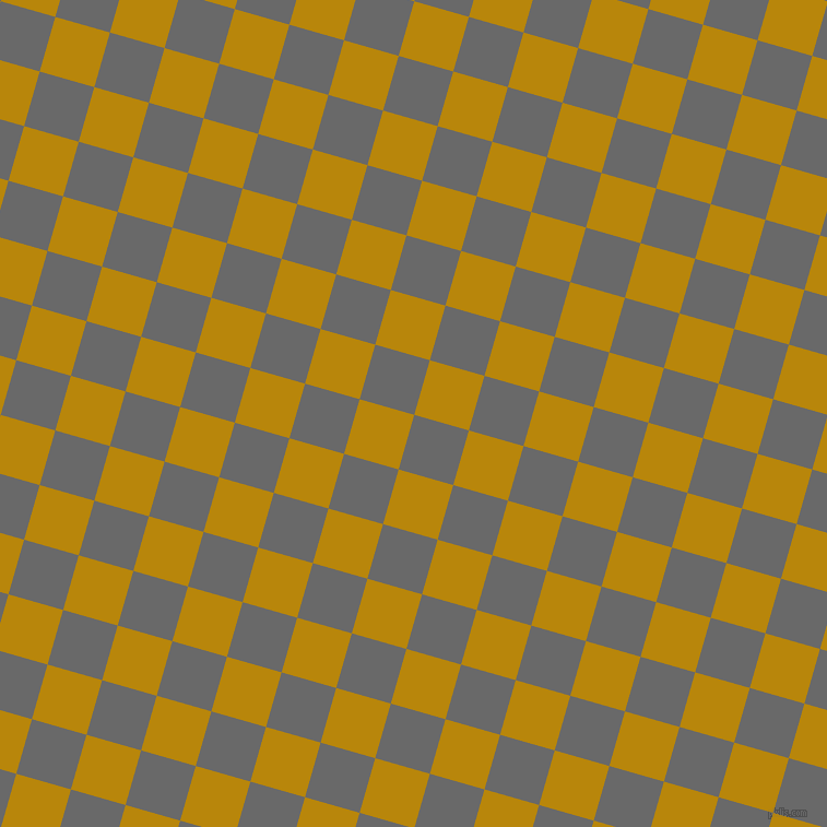 74/164 degree angle diagonal checkered chequered squares checker pattern checkers background, 52 pixel squares size, , Dim Gray and Dark Goldenrod checkers chequered checkered squares seamless tileable
