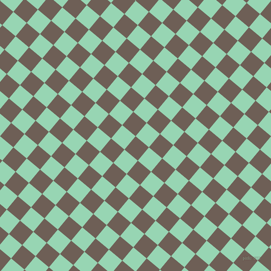 50/140 degree angle diagonal checkered chequered squares checker pattern checkers background, 34 pixel square size, , Dorado and Vista Blue checkers chequered checkered squares seamless tileable