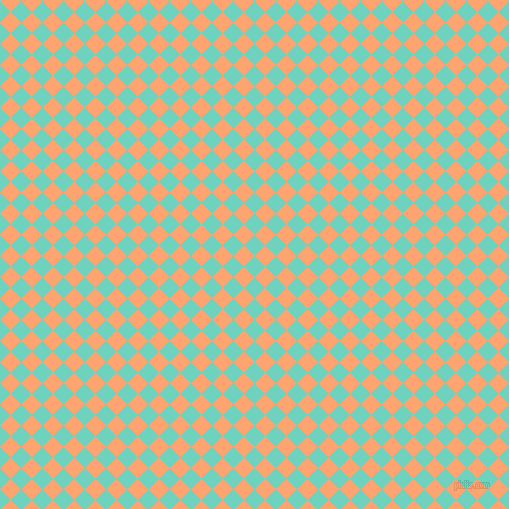 45/135 degree angle diagonal checkered chequered squares checker pattern checkers background, 15 pixel squares size, , Downy and Hit Pink checkers chequered checkered squares seamless tileable