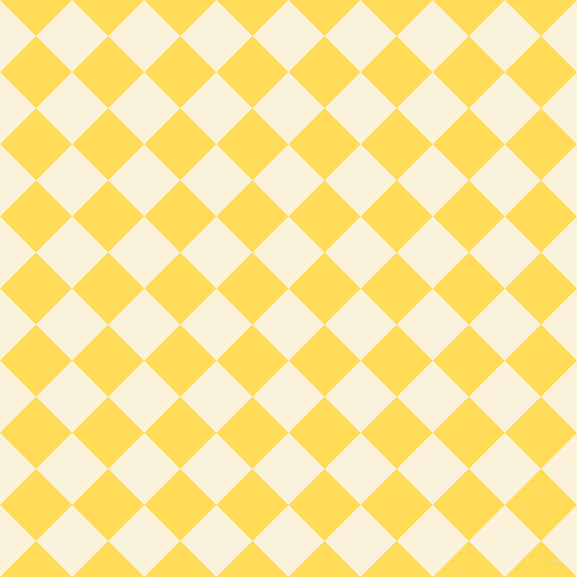 45/135 degree angle diagonal checkered chequered squares checker pattern checkers background, 51 pixel square size, , Early Dawn and Mustard checkers chequered checkered squares seamless tileable