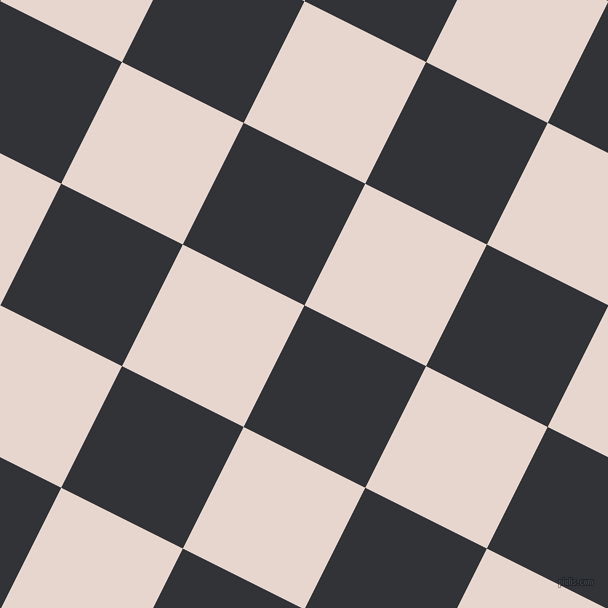 63/153 degree angle diagonal checkered chequered squares checker pattern checkers background, 136 pixel square size, , Ebony and Dawn Pink checkers chequered checkered squares seamless tileable
