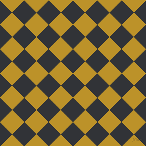 45/135 degree angle diagonal checkered chequered squares checker pattern checkers background, 58 pixel square size, , Ebony and Nugget checkers chequered checkered squares seamless tileable