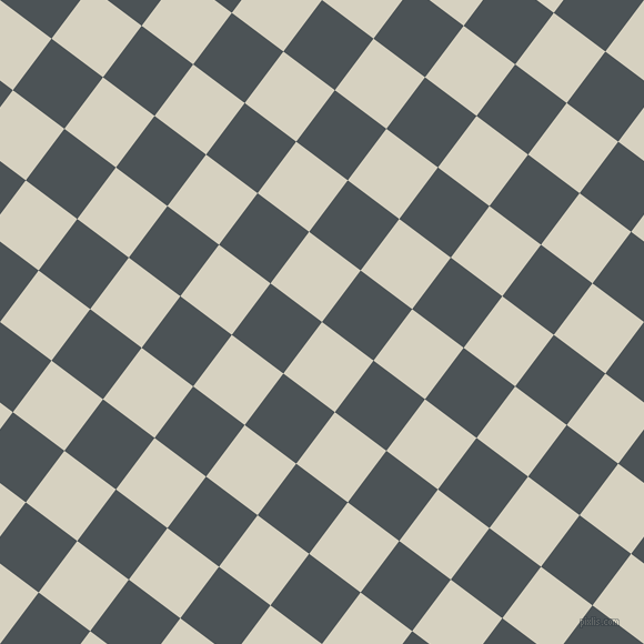 53/143 degree angle diagonal checkered chequered squares checker pattern checkers background, 58 pixel square size, , Ecru White and Trout checkers chequered checkered squares seamless tileable