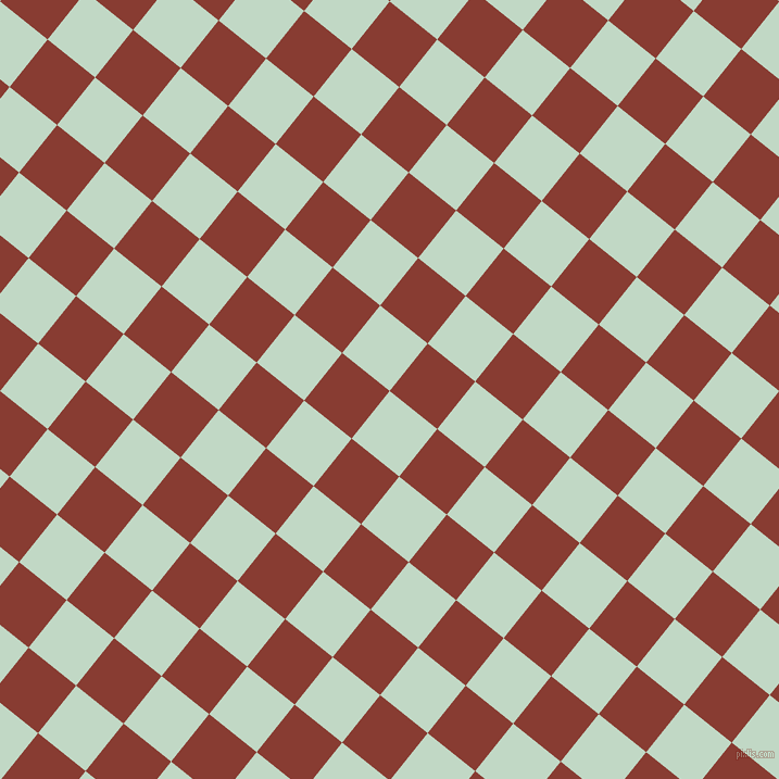 51/141 degree angle diagonal checkered chequered squares checker pattern checkers background, 56 pixel square size, , Edgewater and Prairie Sand checkers chequered checkered squares seamless tileable
