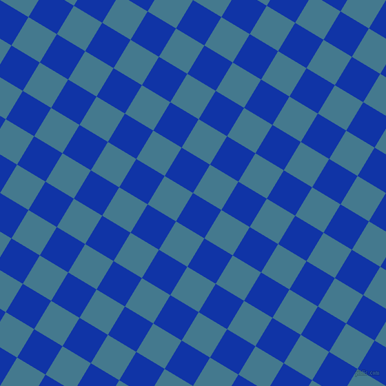 59/149 degree angle diagonal checkered chequered squares checker pattern checkers background, 48 pixel square size, , Egyptian Blue and Jelly Bean checkers chequered checkered squares seamless tileable