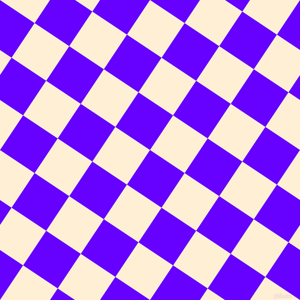56/146 degree angle diagonal checkered chequered squares checker pattern checkers background, 85 pixel squares size, , Electric Indigo and Papaya Whip checkers chequered checkered squares seamless tileable