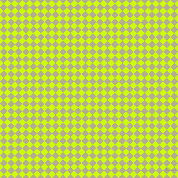 45/135 degree angle diagonal checkered chequered squares checker pattern checkers background, 17 pixel squares size, Electric Lime and Bison Hide checkers chequered checkered squares seamless tileable