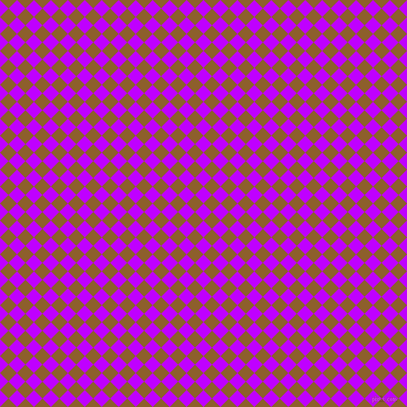 45/135 degree angle diagonal checkered chequered squares checker pattern checkers background, 17 pixel squares size, , Electric Purple and Rusty Nail checkers chequered checkered squares seamless tileable