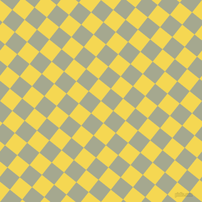 51/141 degree angle diagonal checkered chequered squares checker pattern checkers background, 32 pixel square size, Energy Yellow and Bud checkers chequered checkered squares seamless tileable