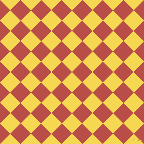 45/135 degree angle diagonal checkered chequered squares checker pattern checkers background, 61 pixel square size, , Energy Yellow and Chestnut checkers chequered checkered squares seamless tileable
