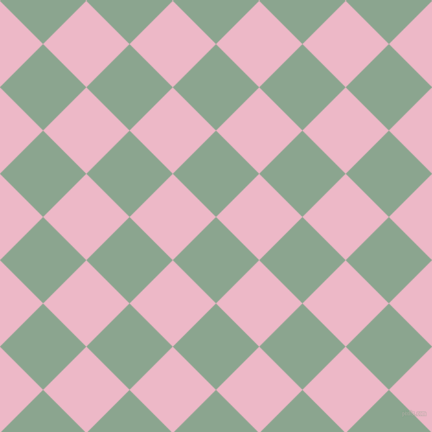 45/135 degree angle diagonal checkered chequered squares checker pattern checkers background, 89 pixel square size, , Envy and Chantilly checkers chequered checkered squares seamless tileable
