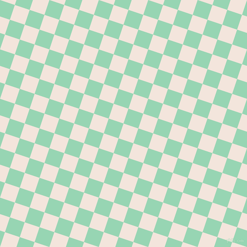72/162 degree angle diagonal checkered chequered squares checker pattern checkers background, 32 pixel square size, Fair Pink and Vista Blue checkers chequered checkered squares seamless tileable