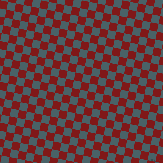 79/169 degree angle diagonal checkered chequered squares checker pattern checkers background, 28 pixel squares size, , Falu Red and Smalt Blue checkers chequered checkered squares seamless tileable