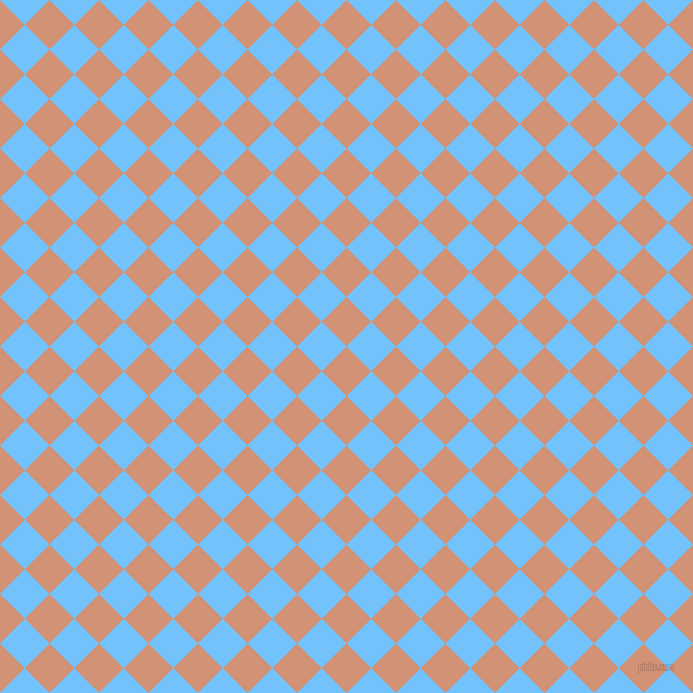 45/135 degree angle diagonal checkered chequered squares checker pattern checkers background, 35 pixel square size, , Feldspar and Maya Blue checkers chequered checkered squares seamless tileable