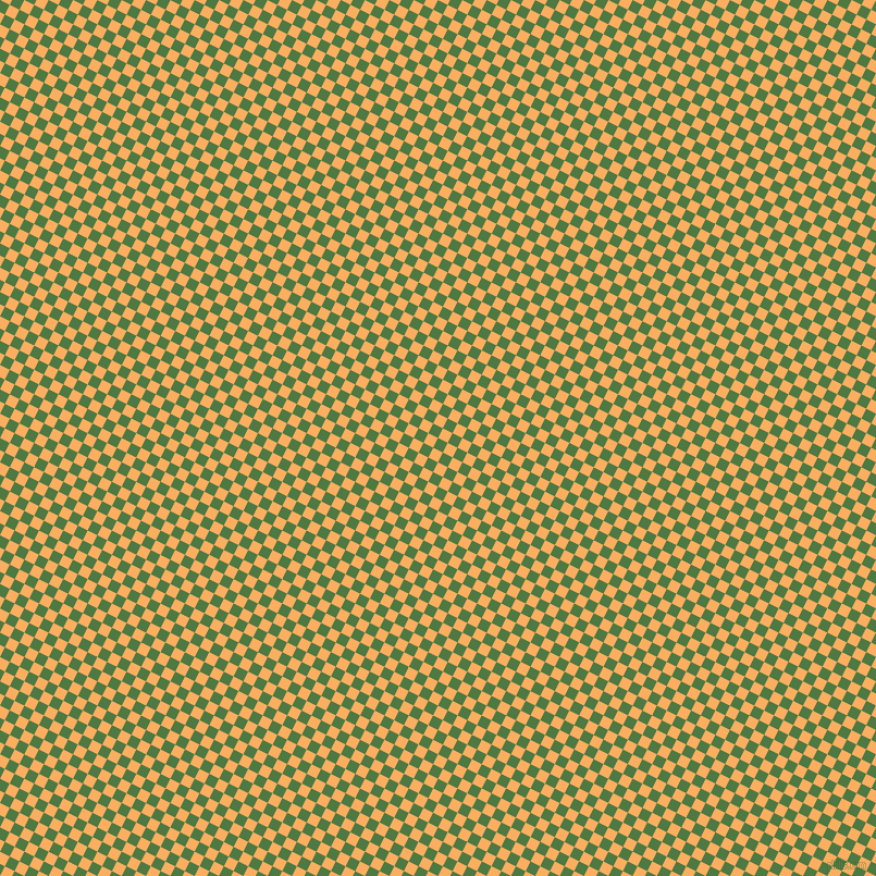 63/153 degree angle diagonal checkered chequered squares checker pattern checkers background, 10 pixel square size, , Fern Green and Rajah checkers chequered checkered squares seamless tileable