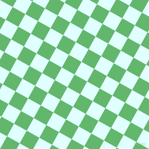 61/151 degree angle diagonal checkered chequered squares checker pattern checkers background, 47 pixel square size, , Fern and Light Cyan checkers chequered checkered squares seamless tileable