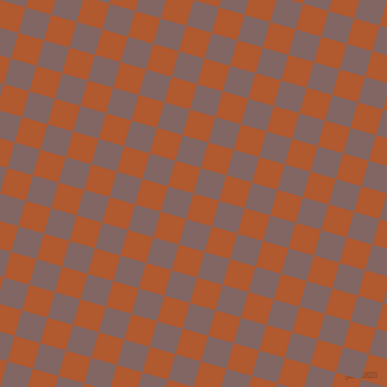 74/164 degree angle diagonal checkered chequered squares checker pattern checkers background, 30 pixel square size, , Fiery Orange and Pharlap checkers chequered checkered squares seamless tileable