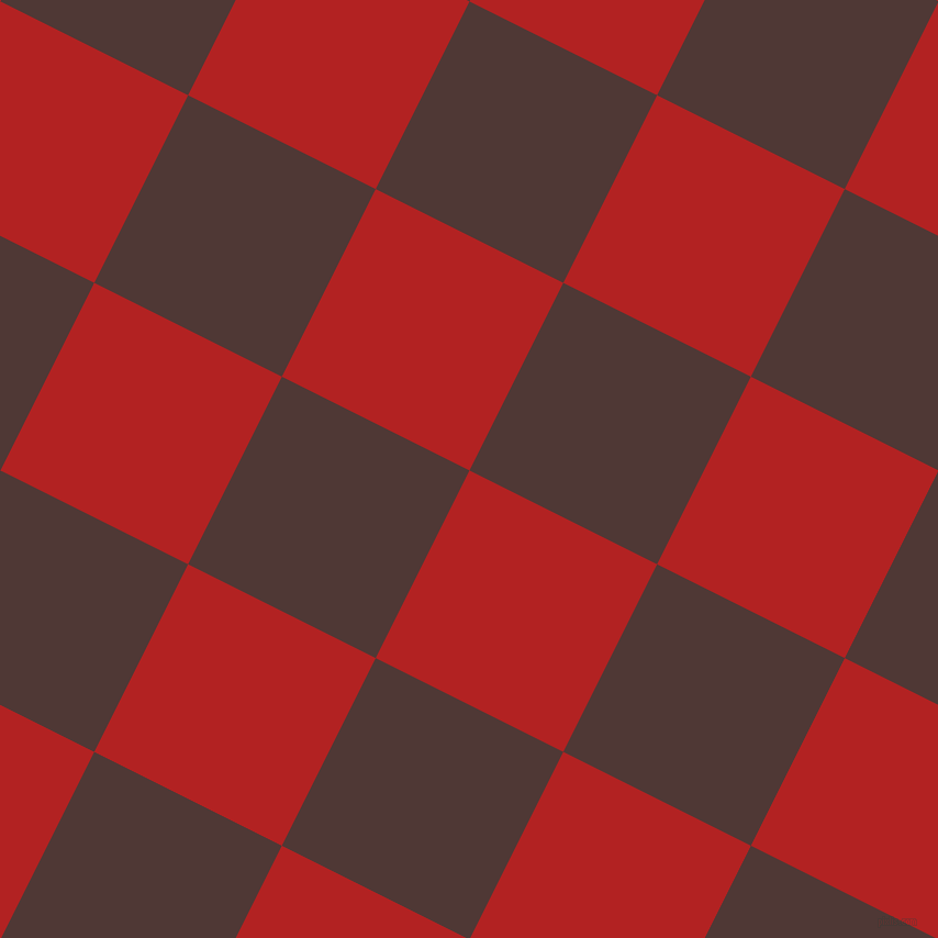 63/153 degree angle diagonal checkered chequered squares checker pattern checkers background, 191 pixel squares size, , Fire Brick and Cocoa Bean checkers chequered checkered squares seamless tileable