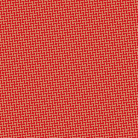51/141 degree angle diagonal checkered chequered squares checker pattern checkers background, 6 pixel square size, , Fire Engine Red and Burning Sand checkers chequered checkered squares seamless tileable