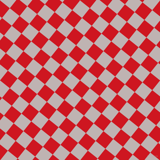 51/141 degree angle diagonal checkered chequered squares checker pattern checkers background, 41 pixel squares size, , Fire Engine Red and Pink Swan checkers chequered checkered squares seamless tileable