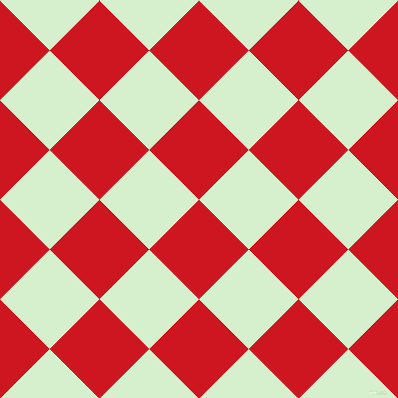 45/135 degree angle diagonal checkered chequered squares checker pattern checkers background, 139 pixel squares size, , Fire Engine Red and Snowy Mint checkers chequered checkered squares seamless tileable