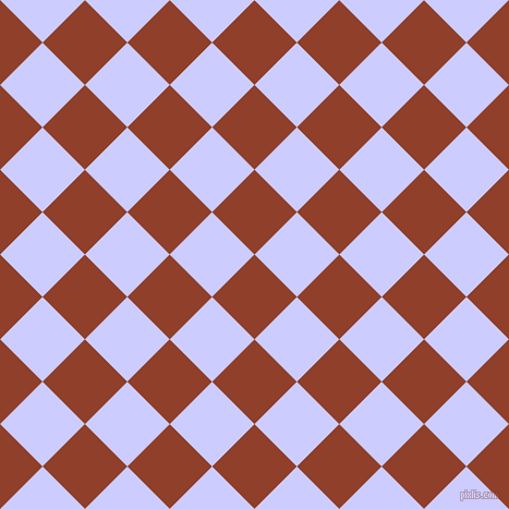 45/135 degree angle diagonal checkered chequered squares checker pattern checkers background, 55 pixel squares size, , Fire and Lavender Blue checkers chequered checkered squares seamless tileable