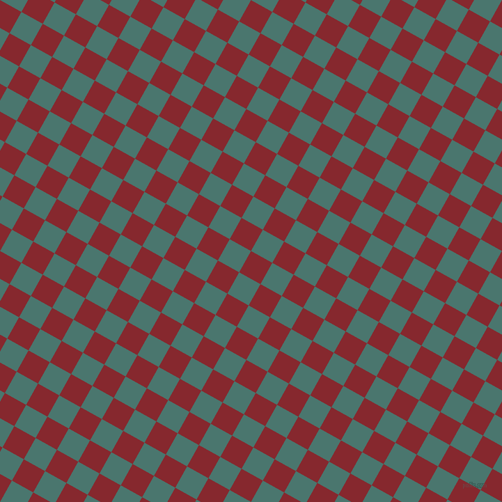 61/151 degree angle diagonal checkered chequered squares checker pattern checkers background, 35 pixel squares size, , Flame Red and Dark Green Copper checkers chequered checkered squares seamless tileable