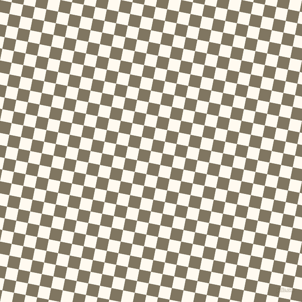 79/169 degree angle diagonal checkered chequered squares checker pattern checkers background, 24 pixel squares size, , Floral White and Stonewall checkers chequered checkered squares seamless tileable