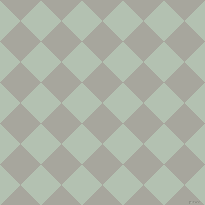 45/135 degree angle diagonal checkered chequered squares checker pattern checkers background, 100 pixel square size, , Foggy Grey and Rainee checkers chequered checkered squares seamless tileable