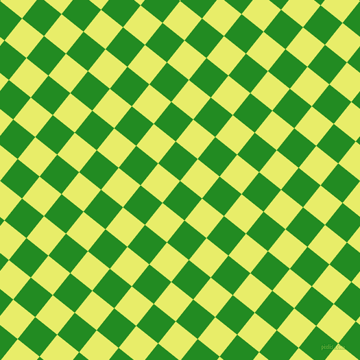 51/141 degree angle diagonal checkered chequered squares checker pattern checkers background, 41 pixel squares size, , Forest Green and Honeysuckle checkers chequered checkered squares seamless tileable
