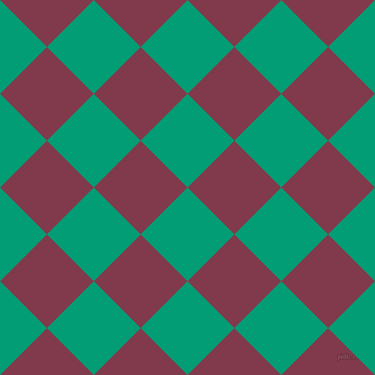 45/135 degree angle diagonal checkered chequered squares checker pattern checkers background, 94 pixel squares size, , Free Speech Aquamarine and Camelot checkers chequered checkered squares seamless tileable