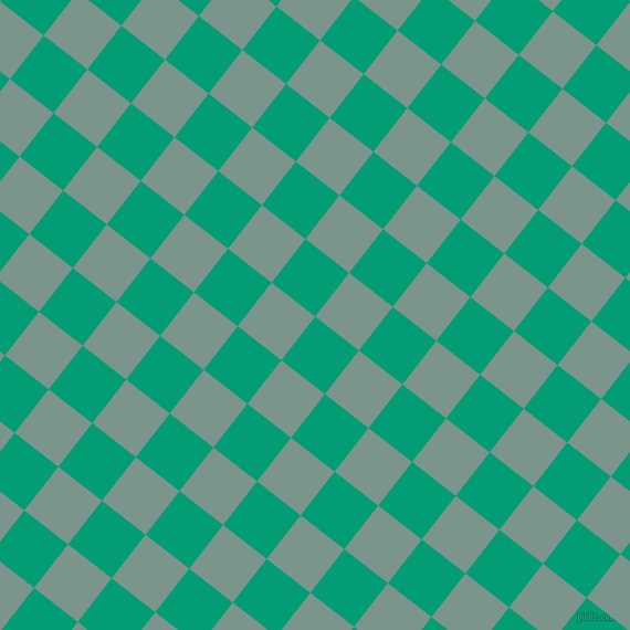 52/142 degree angle diagonal checkered chequered squares checker pattern checkers background, 50 pixel square size, , Free Speech Aquamarine and Granny Smith checkers chequered checkered squares seamless tileable