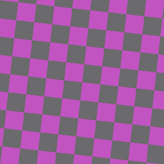 84/174 degree angle diagonal checkered chequered squares checker pattern checkers background, 63 pixel squares size, , Fuchsia and Scarpa Flow checkers chequered checkered squares seamless tileable