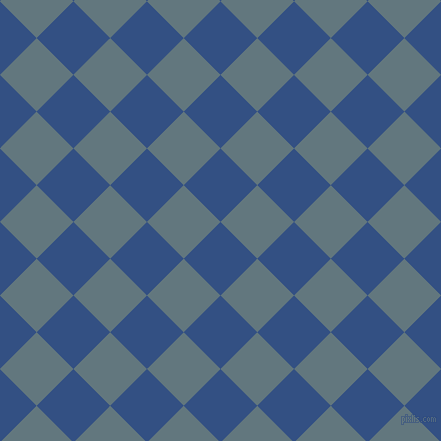 45/135 degree angle diagonal checkered chequered squares checker pattern checkers background, 52 pixel square size, , Fun Blue and Blue Bayoux checkers chequered checkered squares seamless tileable