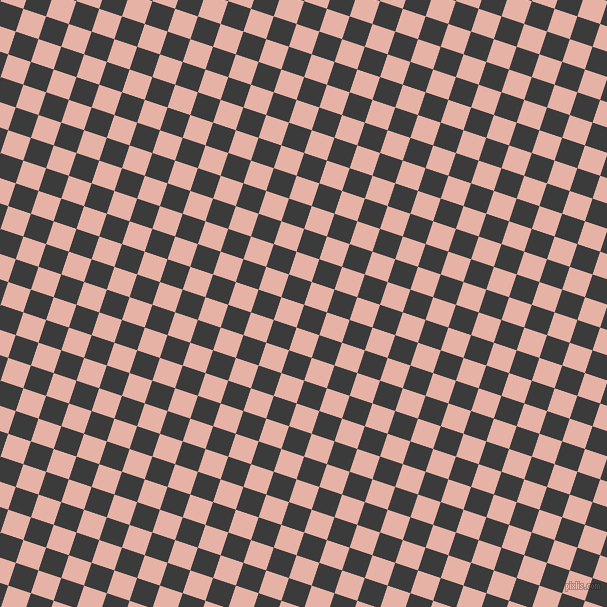 72/162 degree angle diagonal checkered chequered squares checker pattern checkers background, 24 pixel squares size, , Fuscous Grey and Shilo checkers chequered checkered squares seamless tileable