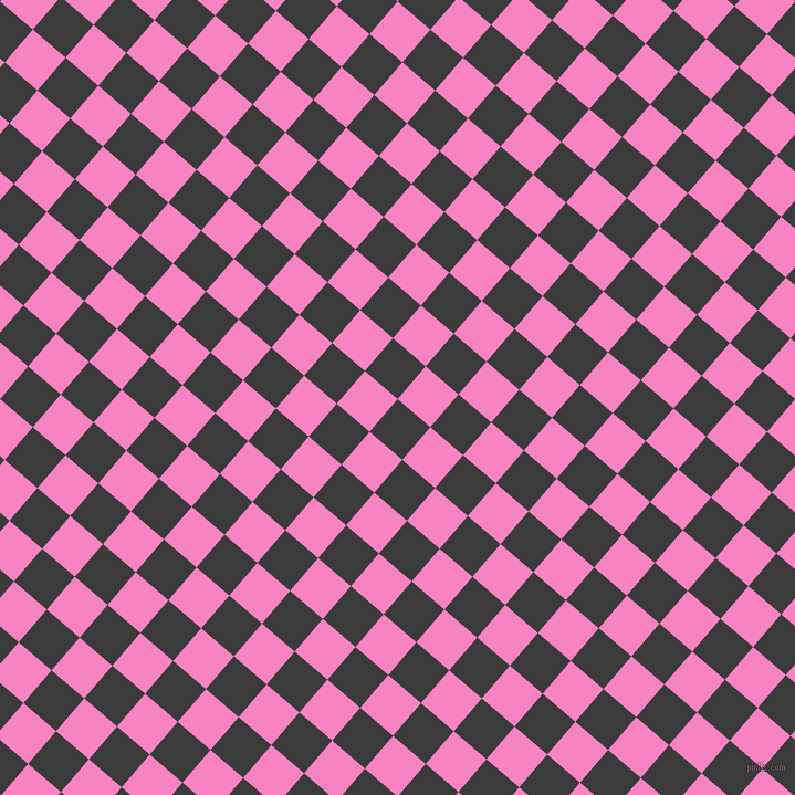 49/139 degree angle diagonal checkered chequered squares checker pattern checkers background, 39 pixel square size, , Fuscous Grey and Tea Rose checkers chequered checkered squares seamless tileable