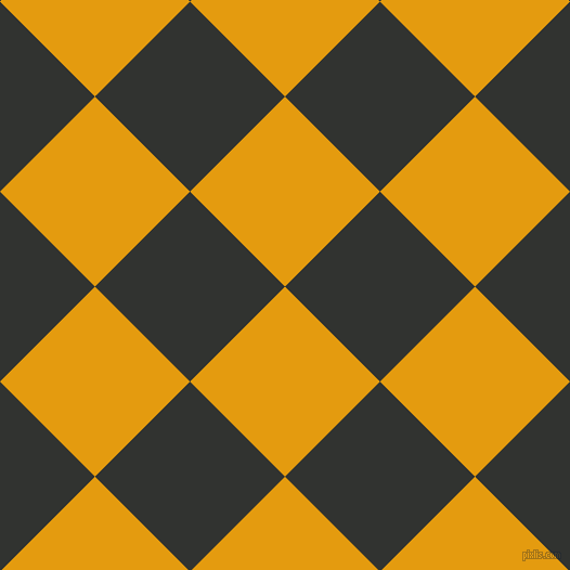 45/135 degree angle diagonal checkered chequered squares checker pattern checkers background, 124 pixel square size, , Gamboge and Oil checkers chequered checkered squares seamless tileable