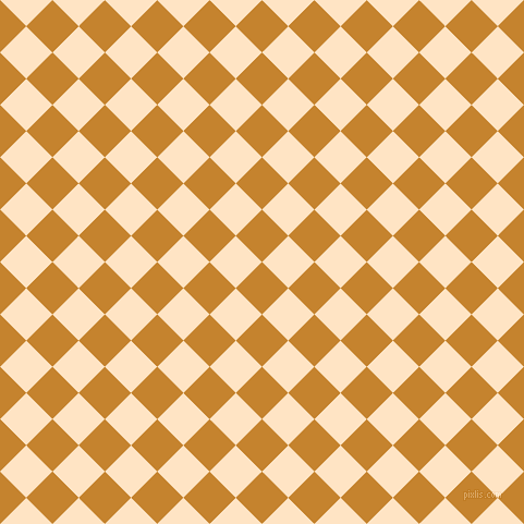 45/135 degree angle diagonal checkered chequered squares checker pattern checkers background, 34 pixel square size, , Geebung and Bisque checkers chequered checkered squares seamless tileable