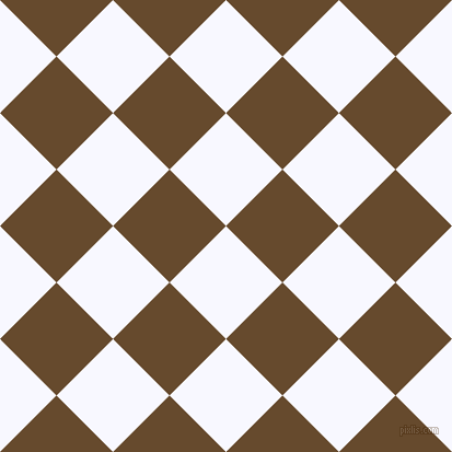 45/135 degree angle diagonal checkered chequered squares checker pattern checkers background, 73 pixel squares size, , Ghost White and Dallas checkers chequered checkered squares seamless tileable