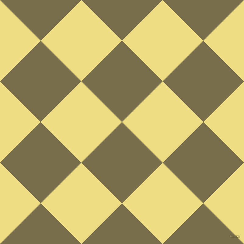 45/135 degree angle diagonal checkered chequered squares checker pattern checkers background, 189 pixel squares size, Go Ben and Light Goldenrod checkers chequered checkered squares seamless tileable