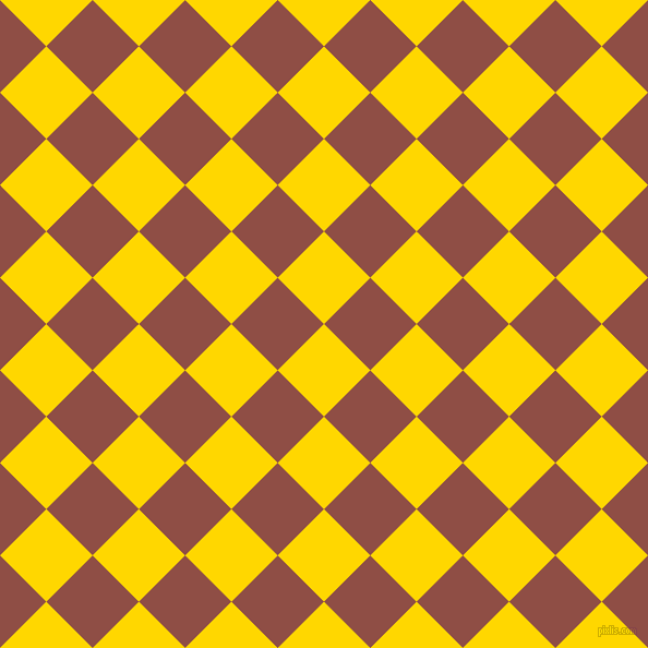 45/135 degree angle diagonal checkered chequered squares checker pattern checkers background, 60 pixel square size, , Gold and El Salva checkers chequered checkered squares seamless tileable