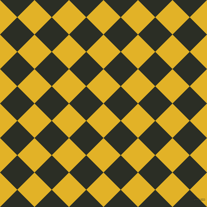 45/135 degree angle diagonal checkered chequered squares checker pattern checkers background, 78 pixel squares size, , Gold Tips and Rangoon Green checkers chequered checkered squares seamless tileable