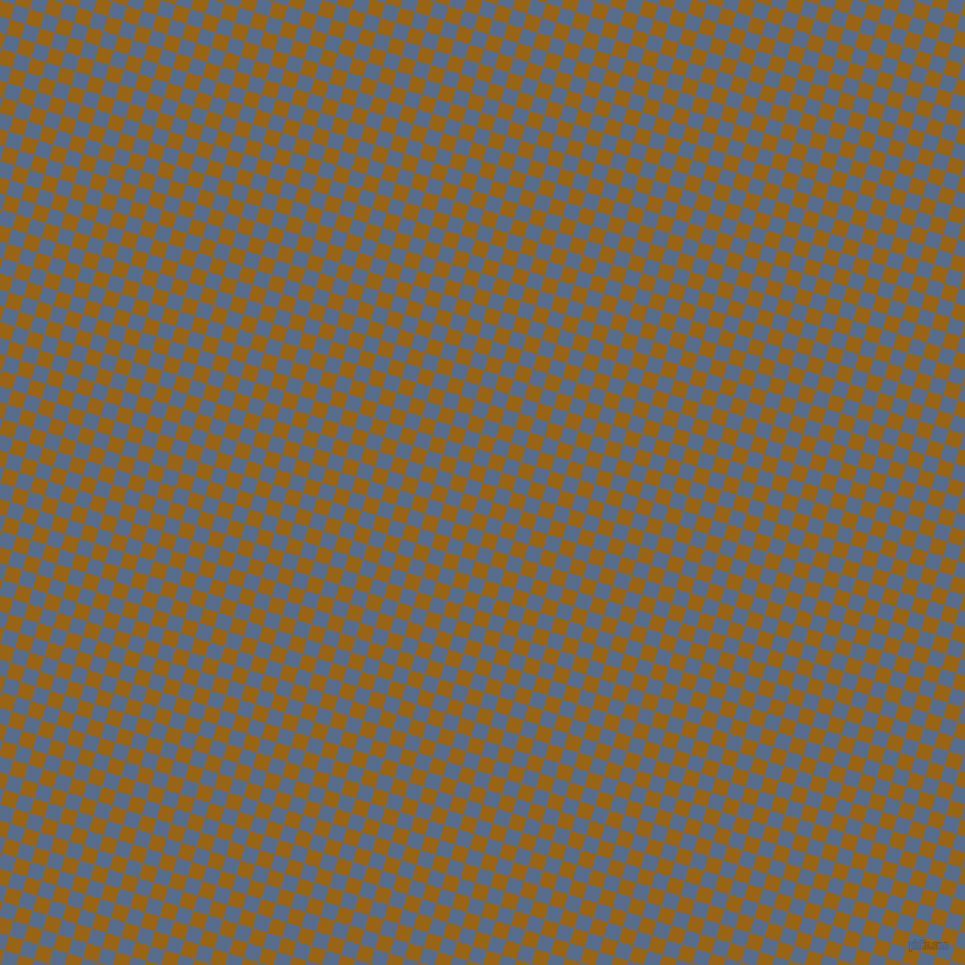 73/163 degree angle diagonal checkered chequered squares checker pattern checkers background, 14 pixel square size, , Golden Brown and Kashmir Blue checkers chequered checkered squares seamless tileable