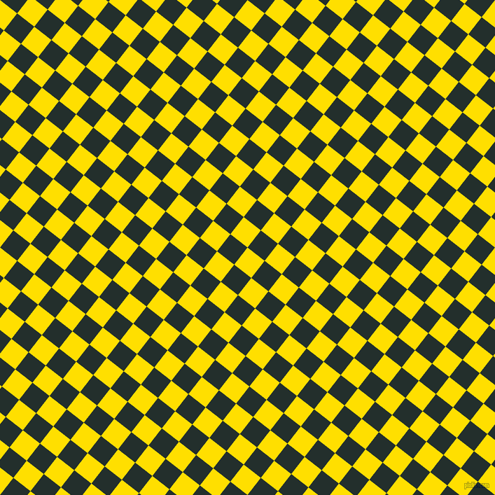 52/142 degree angle diagonal checkered chequered squares checker pattern checkers background, 31 pixel square size, , Golden Yellow and Racing Green checkers chequered checkered squares seamless tileable