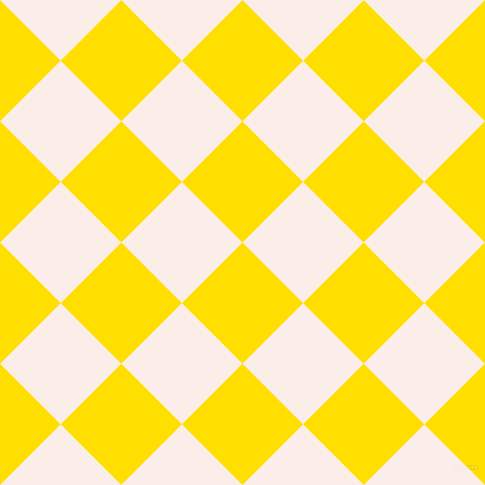 45/135 degree angle diagonal checkered chequered squares checker pattern checkers background, 120 pixel squares size, , Golden Yellow and Rose White checkers chequered checkered squares seamless tileable
